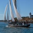 Sailing by the Curtis Island Lighthouse